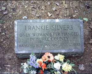 Frankie's gravestone that was put in place in 1952 by the editor of the Morganton News-Herald.